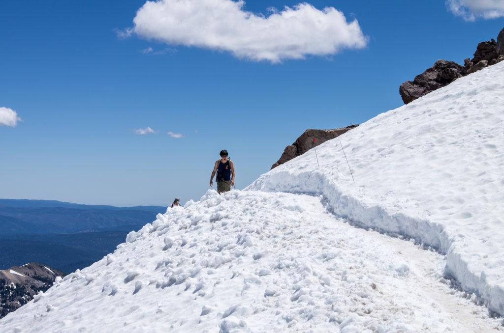 nearing the snowy summit