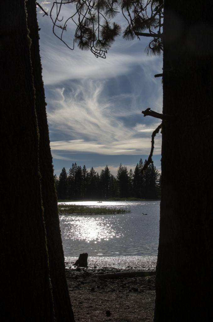 a glimpse of manzanita lake