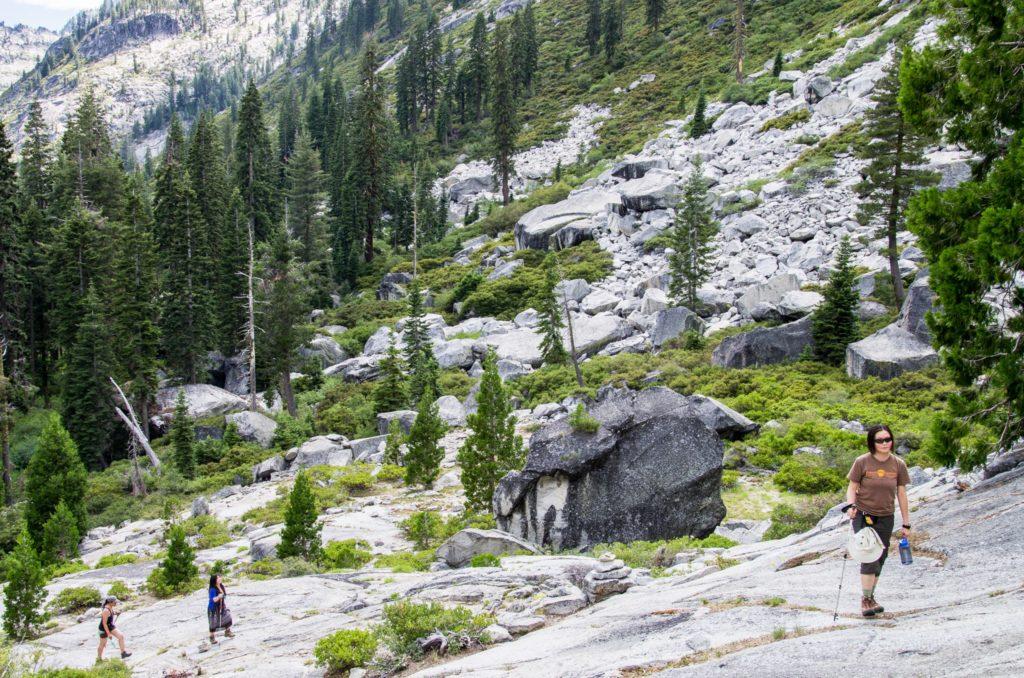 the climb to lower canyon creek lake