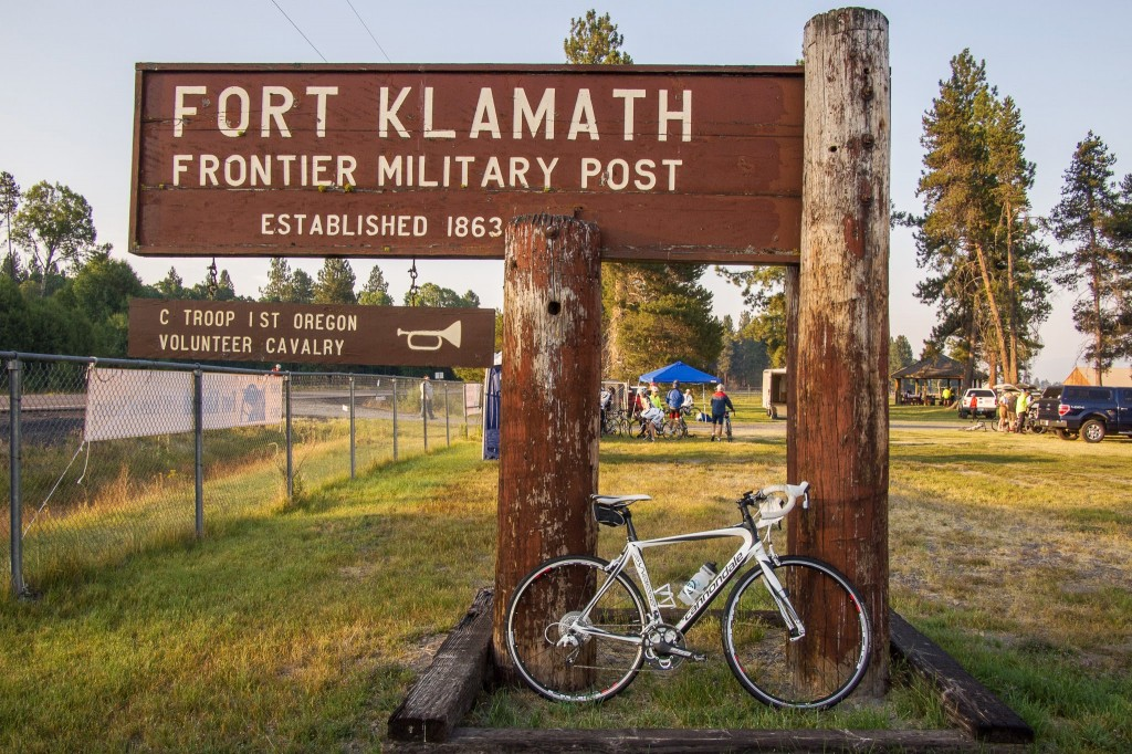 the ride started at the fort klamath museum