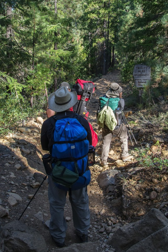 entering the trinity alps wilderness