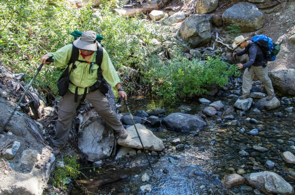 one of many creek crossings.