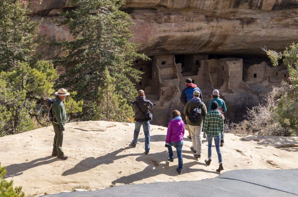 ranger led tour of one of the dwellings