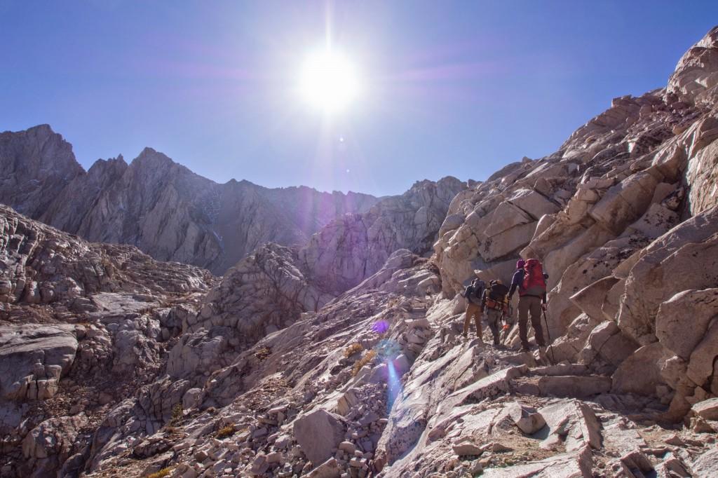last climb towards trail camp