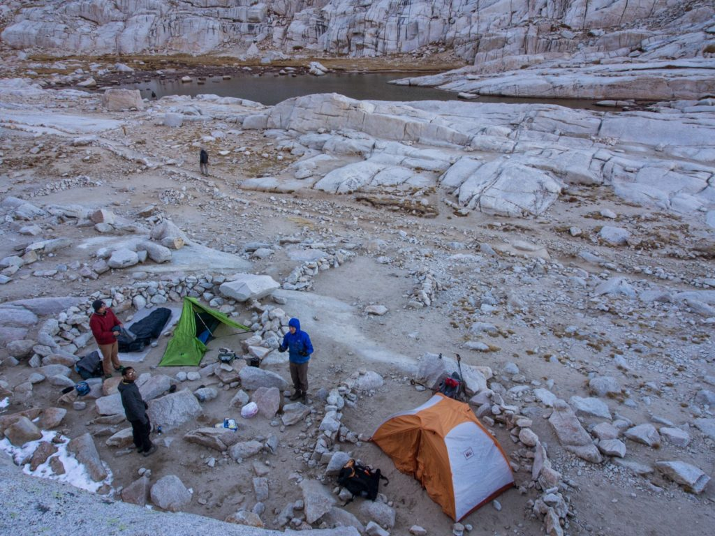 closer view of our campsite