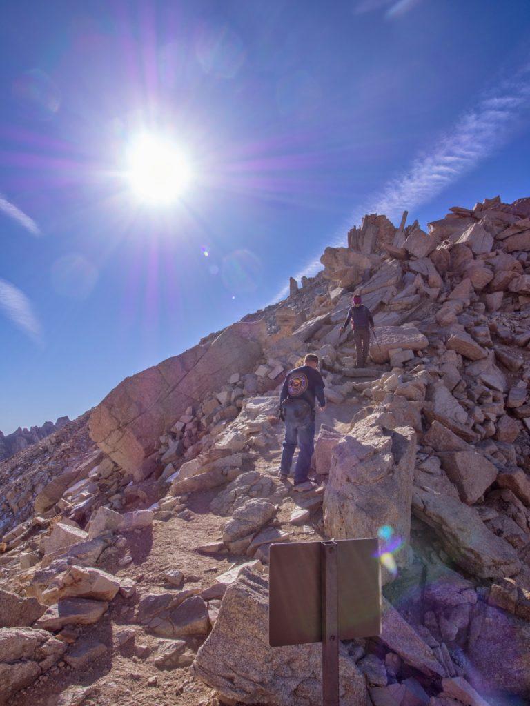 descending to trail crest