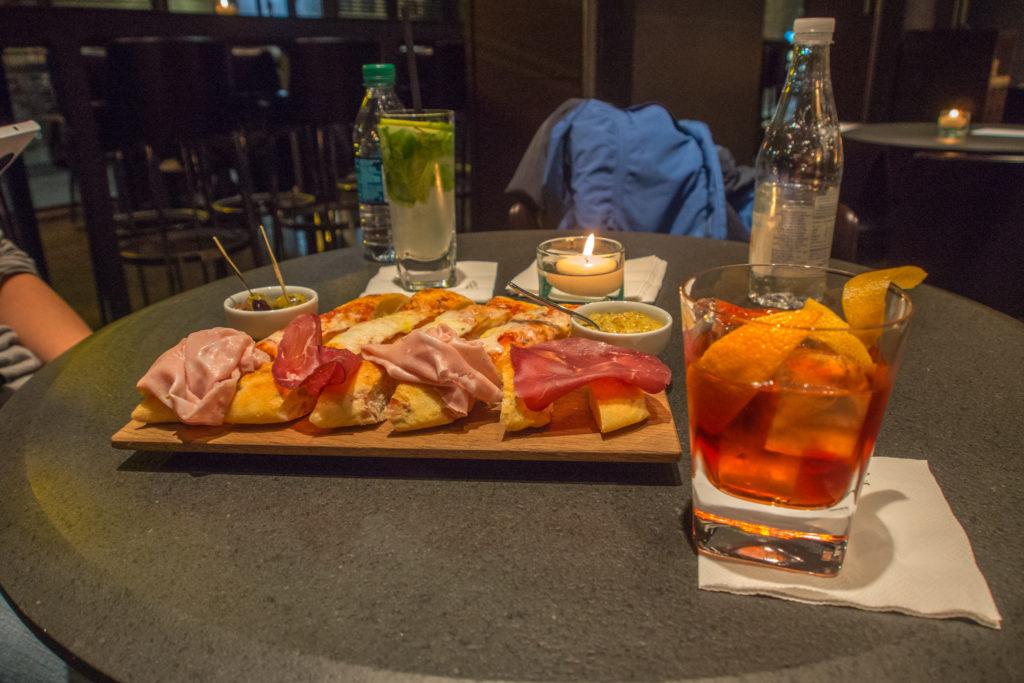 aperitivo in milan.