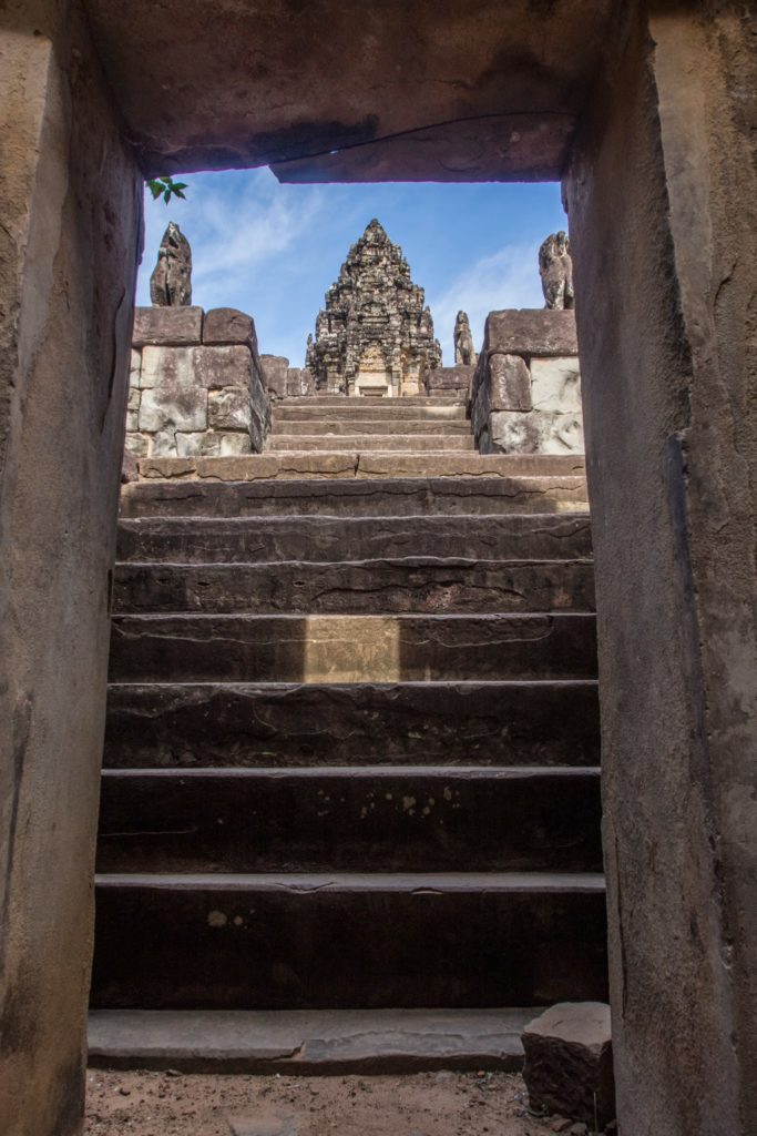steep steps up (i think it was bakong)